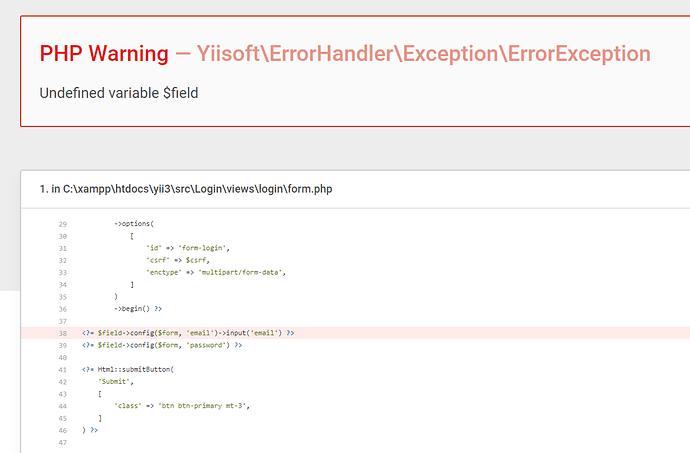 yii3-error