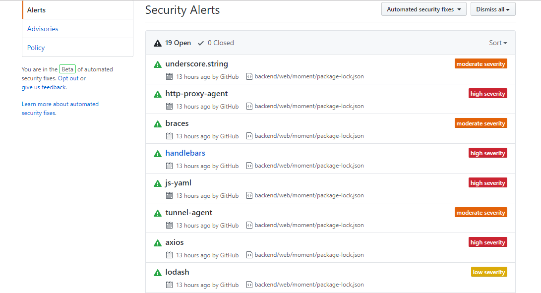 Security Alerts - Ask a question - Yii Framework Forum